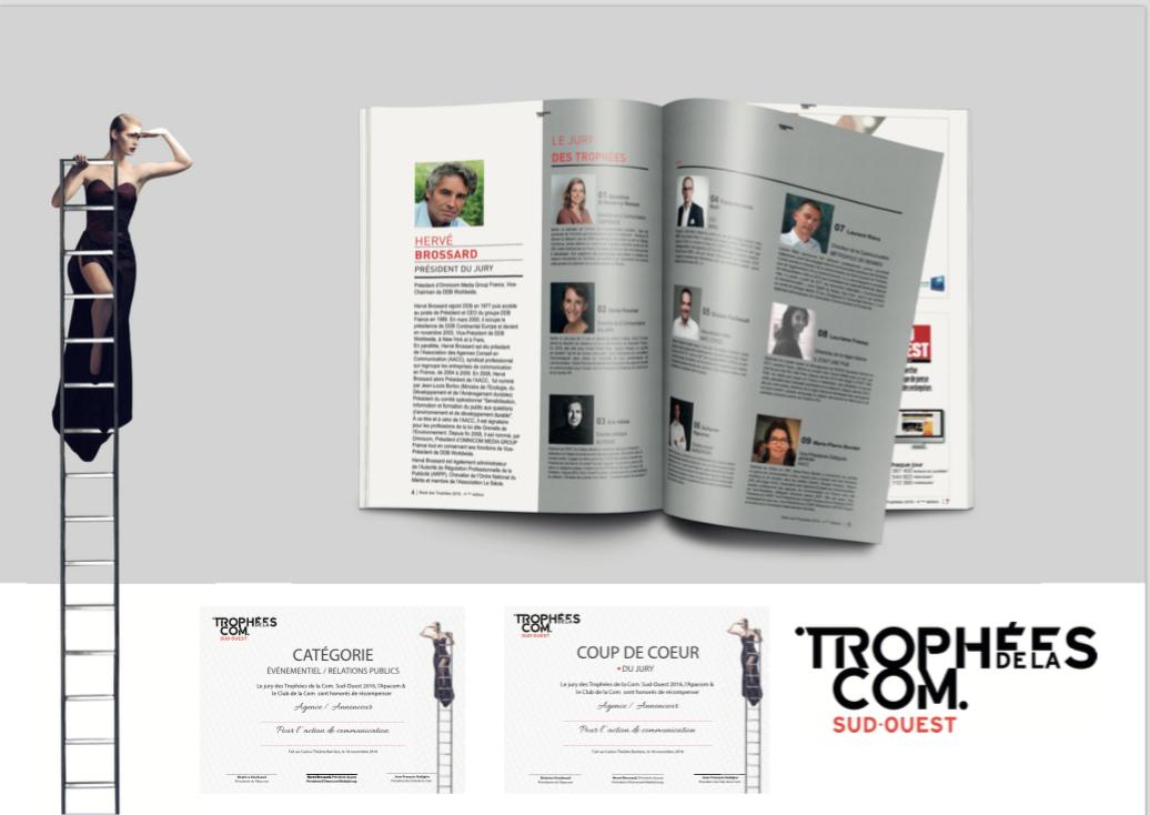 identité trophées Com Sud-Ouest 2016