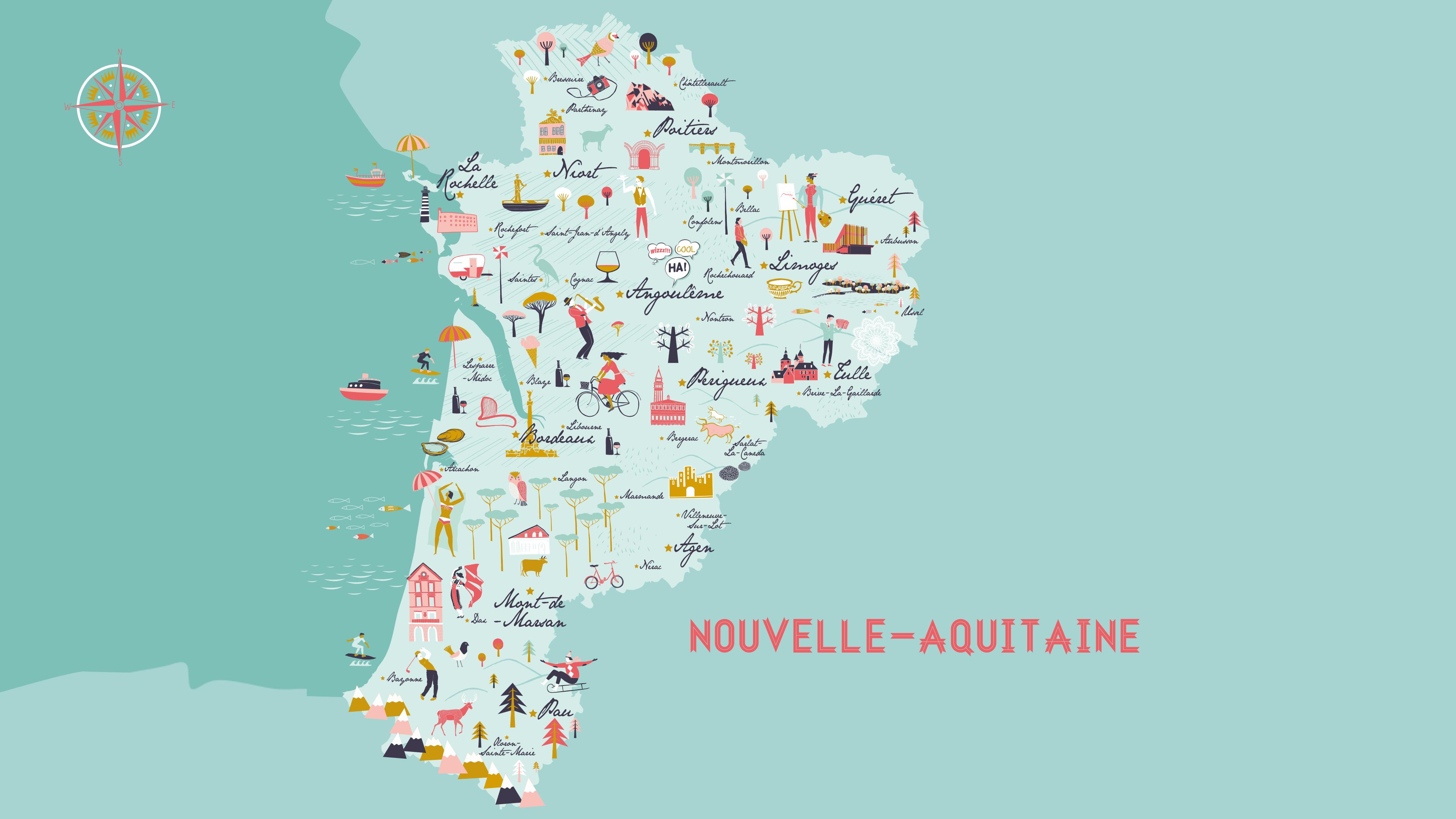 Tourisme NA carte