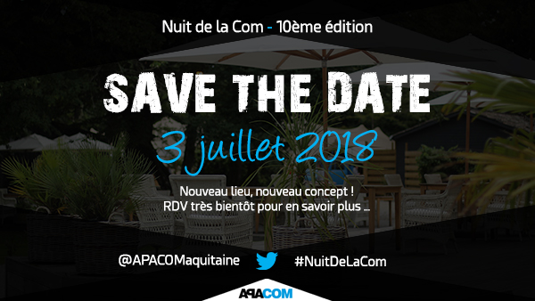 Save the date Nuit de la Com