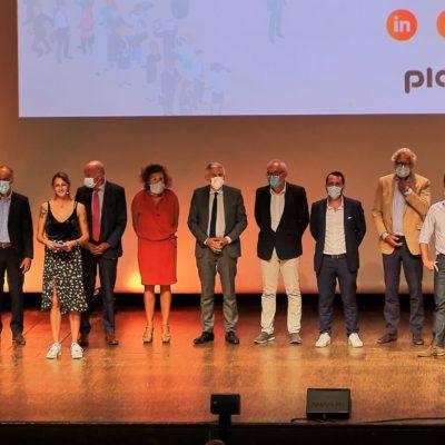 Photo d'équipe du lancement de Placéco